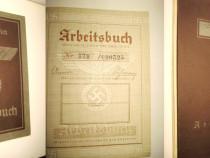 7388-Carte munca Deutche Reich-swastika-stare foarte buna.