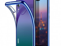 Huawei P20 Lite - Husa Luxury Din Silicon Transparenta Color