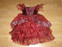 Costum carnaval serbare vrajitoare rochie medievala 5-6 ani