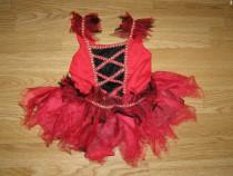 Costum carnaval serbare vrajitoare diavolita 2-3 ani