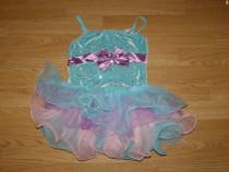 Costum carnaval serbare rochie dans balet gala 4-5-6 ani