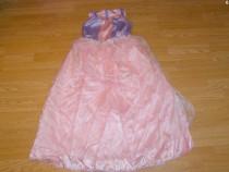 Costum carnaval serbare rochie barbie 7-8 ani