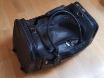 Troller Piele Naturala Negru Elite Leather Bags