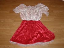 Costum carnaval serbare scufita rosie pentru adulti marime M