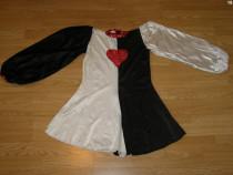 Costum carnaval serbare rochie dans inima rosie adulti M