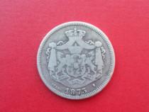 Monedă de argint din anul 1873