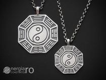 Medalion Talisman Pandantiv Yin Yang Argint - cod PND925