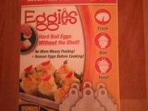 Set 6 dispozitive pentru fiert oua fara coaja, Eggies