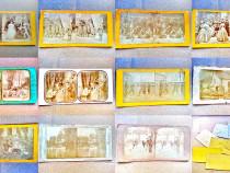 A525-Set 11 foto kabinet vechi anii 1900:grupuri de militari