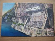 A626-I-Tabula Traiana vedere veche anii 1920. Carte postala.