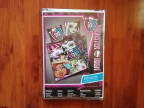 Lenjerie de pat copii monster high ,, nou sigilat ,,