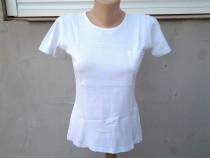 Amisu White tricou dama mar. 38 - 40 / M