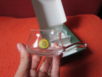 Cadou inedit-WMf Schnapsglas vintage handmade Germany'60-'70