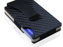 Portofel carduri aluminiu protectie rfid port card metalic