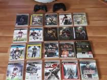 Consola PlayStation 3 500GB +18 jocuri+2manete sch xbox one,