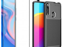 Huawei Y5 P Smart Z 2019 Pachet Husa Silicon Carbon + Folie