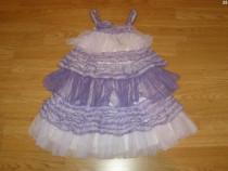 Costum carnaval serbare rochie floare zana 5-6 ani