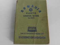 Romania harta turistica si rutiera de colectie 1979