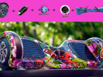 Promo hoverboard 1000w cadou geanta full led bluetooth