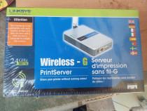 Wireless-g print server wps54g