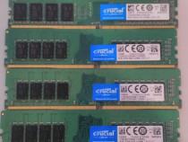 Memorie Desktop RAM DDR4 Crucial - 2400Mhz, 2133Mhz, 1.2V