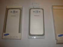 Husa originala Samsung Galaxy A5 2015 spate telefon alb / gr