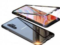 Samsung Note 10 10+ Husa Magnetica Spate Sticla Rama Metalic