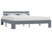 Cadru de pat, gri, 160 x 200 cm, lemn masiv de 283170