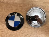 Emblema Bmw capota fata / portbagaj 74 mm 82mm +suporti embl