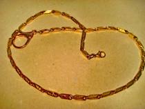 B204-Lant ceas buzunar barbat alama aurita cu zale drept...