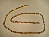 B214- Lant ceas buzunar barbat alama aurita cu zale