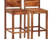 Scaune de bar, 2 buc., maro, lemn masiv de 246690