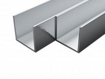 Canale din aluminiu cu profil în U, 4 buc 143162
