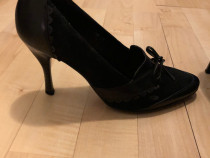 Pantofi - ghetute din piele combinati cu piele intoarsa