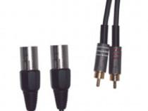Cablu audio 2 rca tata - 2 xlr tata 3m