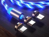 Cablu magnetic cu trei capete full led