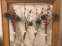Tablou/Rama cu eprubete pentru aranjamente florale