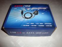 Convertor adaptor HDD IDE ATA SATA la usb alimentator 12v 5v