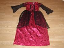 Costum carnaval serbare regina medievala 10-11-12 ani