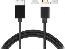 Cablu Magnetic 3 in 1 Mini Usb / Type C / Lightening