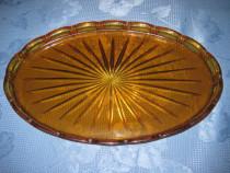 321-Tava sticla maronie model raza soarelui.