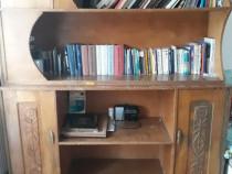 PF-Biblioteca modulara unicat din lemn masiv,paltin,sculptat