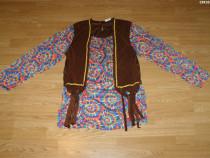 Costum carnaval serbare hippie pentru adulti marime S