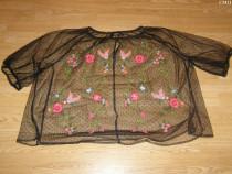 Plasa bluza brodata pentru adulti marime M de la bikbok