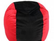 Fotoliu Puf Ultra Size Red & Black, Livrare Grauită în țară!