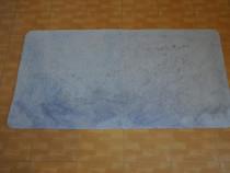 Covor moale cu 2 fete, 85x160 cm, albastru
