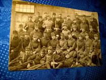 1284-ww1- Grup de militari Foto veche primul razboi.
