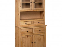 Bufet înalt, 93x40,5x180 cm, lemn masiv pin, 282700