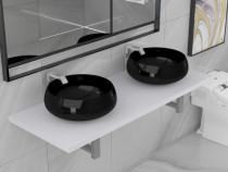 Set mobilier de baie din trei piese, alb 279385