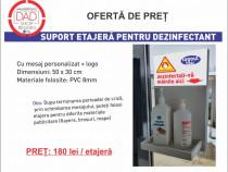 Suport/Etajeră pentru dezinfectant